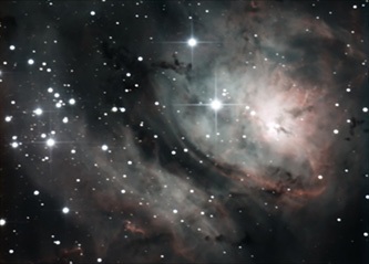 The Lagoon Nebula M8 @ 300sec exposure rate Meade DSI